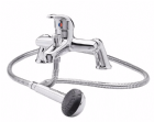 Ultra Eon Single Lever Chrome Bath Shower Mixer Tap With Shower Kit DTY304